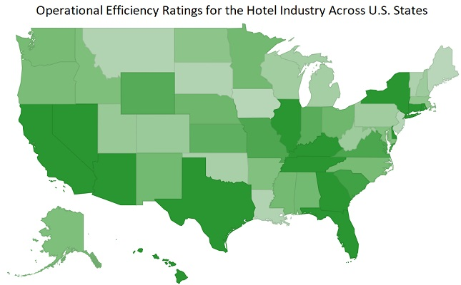 An Efficiency Analysis of the Hotel Industry Across U.S. States: A Data Envelopment Analysis