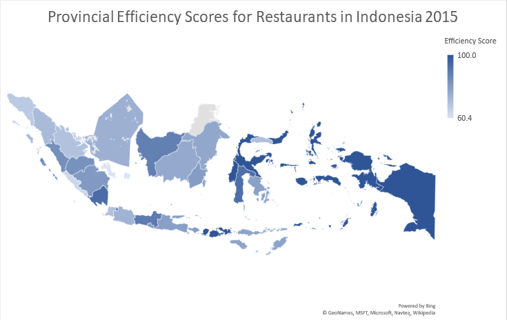 Restaurant Efficiency In Indonesia by Province: An Analysis Using the Data Envelopment Analysis (DEA) Technique